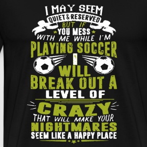 Playing Soccer Shirt - Men's Premium T-Shirt