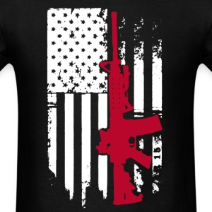 AR 15 Flag Shirt - Men's T-Shirt