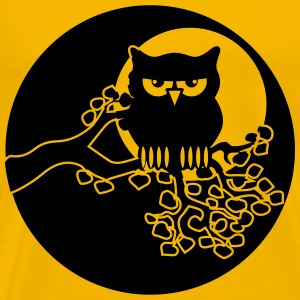 full moon owl ast T-Shirts - Men's Premium T-Shirt
