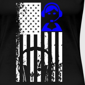 911 Dispatcher Flag Shirt - Women's Premium T-Shirt