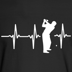 MY HEART BEAT FOR GOLF! Long Sleeve Shirts - Men's Long Sleeve T-Shirt