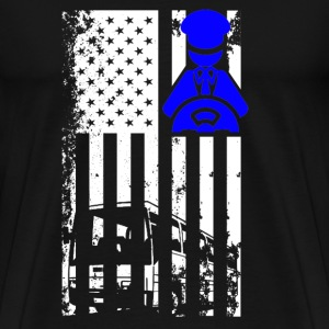 Bus Driver Flag Shirt - Men's Premium T-Shirt