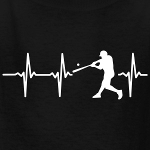 MY HEART BEATS FOR BASEBALL! Kids' Shirts - Kids' T-Shirt