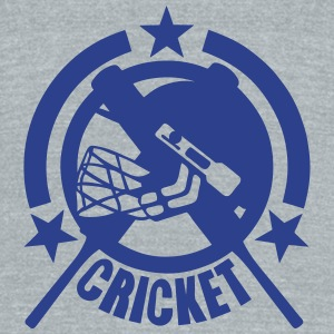 cricket bat helmet logo 155 T-Shirts - Unisex Tri-Blend T-Shirt by American Apparel