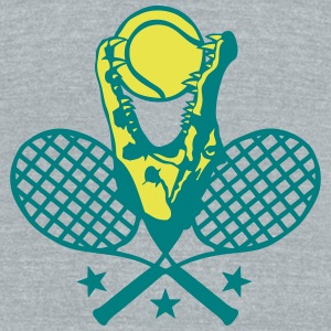 tennis racket crocodile logo ball open T-Shirts - Unisex Tri-Blend T-Shirt by American Apparel