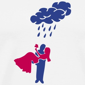 wet happy marriage T-Shirts - Men's Premium T-Shirt
