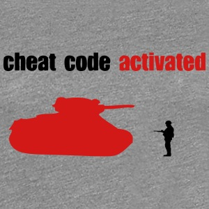 cheat code activated tank geek Women's T-Shirts - Women's Premium T-Shirt
