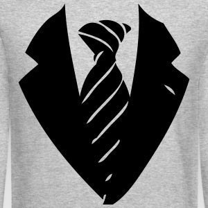 suit and tie 1 Long Sleeve Shirts - Crewneck Sweatshirt