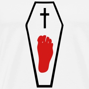 1 foot in coffin T-Shirts - Men's Premium T-Shirt