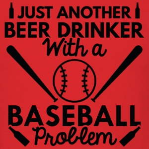 Beer Drinker Baseball - Men's T-Shirt
