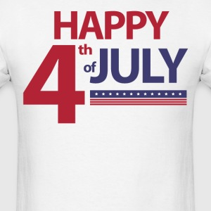 Happy 4th Of July With Stars - Men's T-Shirt