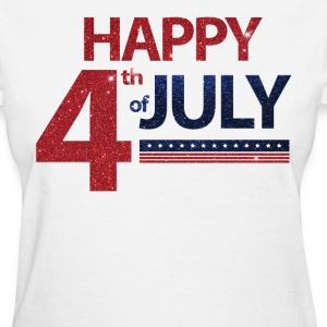 4th Of July With Stars And Glitter  - Women's T-Shirt