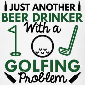 Beer Drinker Golfing - Men's T-Shirt