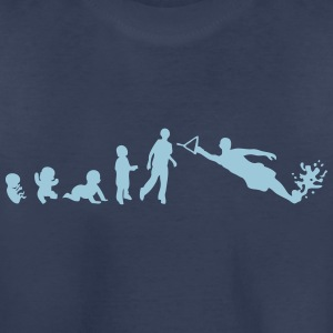 evolution water skiing Kids' Shirts - Kids' Premium T-Shirt