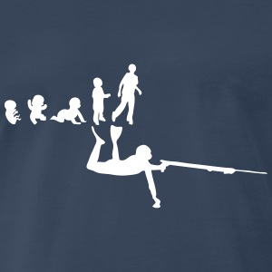 evolution underwater shooting T-Shirts - Men's Premium T-Shirt