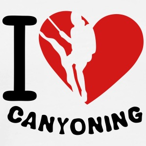 canyoning love heart 2 T-Shirts - Men's Premium T-Shirt