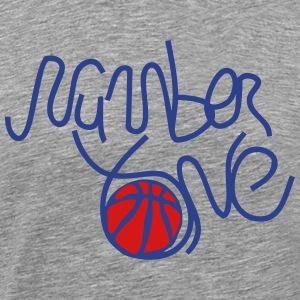 number one basketball 1 T-Shirts - Men's Premium T-Shirt