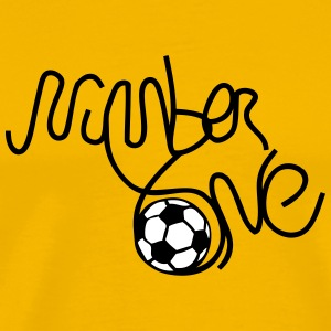 number one soccer T-Shirts - Men's Premium T-Shirt
