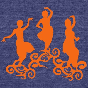 dance india indian oriental 4 T-Shirts - Unisex Tri-Blend T-Shirt by American Apparel