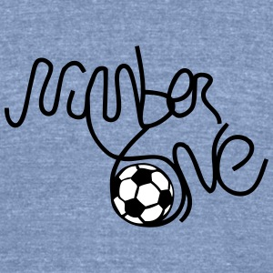 number one soccer T-Shirts - Unisex Tri-Blend T-Shirt by American Apparel