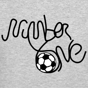 number one soccer Long Sleeve Shirts - Crewneck Sweatshirt