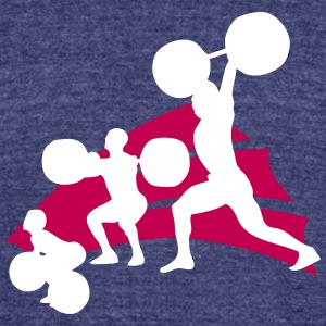 evolution weightlifting 3 T-Shirts - Unisex Tri-Blend T-Shirt by American Apparel