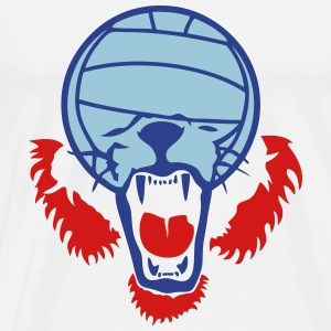 volleyball waterpolo ball lion face T-Shirts - Men's Premium T-Shirt