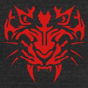 species tiger head ferocious animals 120 T-Shirts - Unisex Tri-Blend T-Shirt by American Apparel
