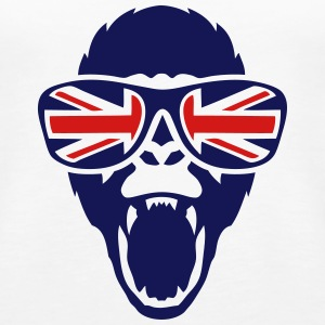 gorilla head bezel english flag 1 Tanks - Women's Premium Tank Top