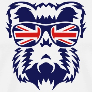 boar head bezel english flag 2 T-Shirts - Men's Premium T-Shirt
