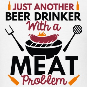 Beer Drinker Meat - Men's T-Shirt