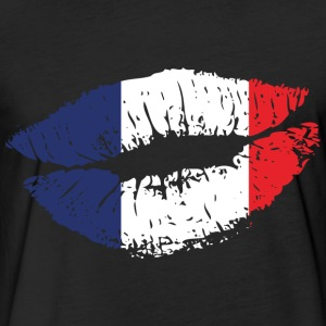 France Mouth T-Shirts - Fitted Cotton/Poly T-Shirt by Next Level