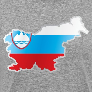 National territory and flag Slovenia T-Shirts - Men's Premium T-Shirt