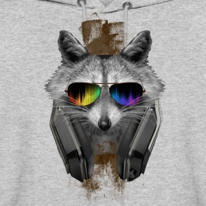 RACCOON DJ PARTY - Men's Hoodie