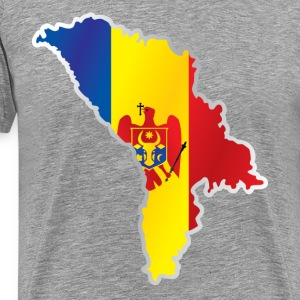 National territory and flag Moldova - Men's Premium T-Shirt