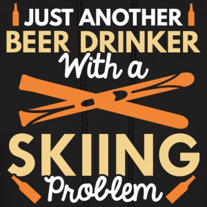 Beer Drinker Skiing - Men's Hoodie