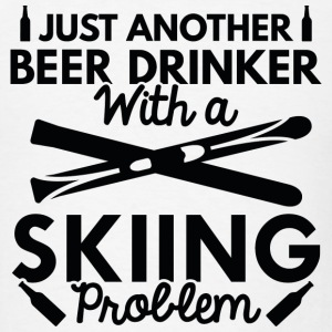 Beer Drinker Skiing - Men's T-Shirt