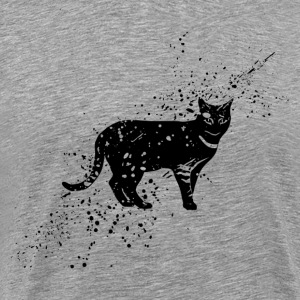 Grungy cat symbol - Men's Premium T-Shirt