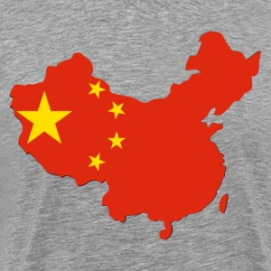 National territory with flag China T-Shirts - Men's Premium T-Shirt