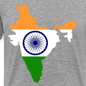 National territory with flag India - Men's Premium T-Shirt