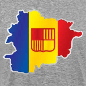 National territory and flag Andorra - Men's Premium T-Shirt