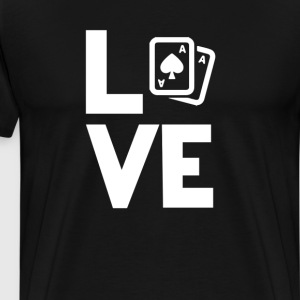 Playing Cards Texas Hold Love Funny T-Shirt T-Shirts - Men's Premium T-Shirt