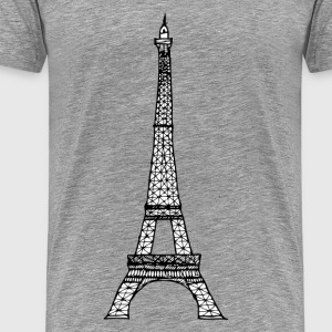 World famous Eiffel tower landmark T-Shirts - Men's Premium T-Shirt