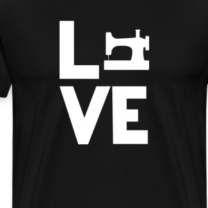 Sewing Machine Love Funny T-Shirt T-Shirts - Men's Premium T-Shirt