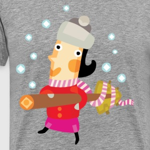 Cute Christmas party character T-Shirts - Men's Premium T-Shirt