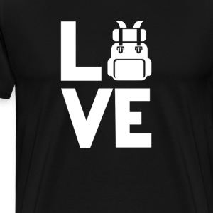 Travelling backpacking Love Funny T-Shirt T-Shirts - Men's Premium T-Shirt