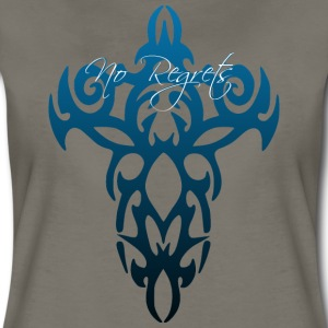No Regrets Cross Tattoo - Women's Premium T-Shirt