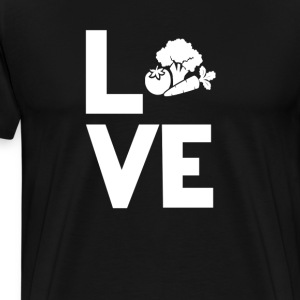 Vegetables vegan Love Funny T-Shirt T-Shirts - Men's Premium T-Shirt