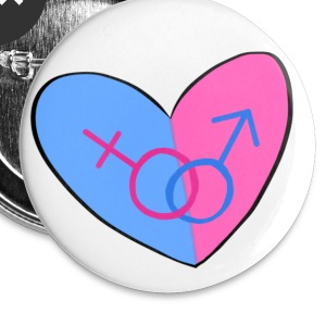 Straight Pride Heart - Small Buttons
