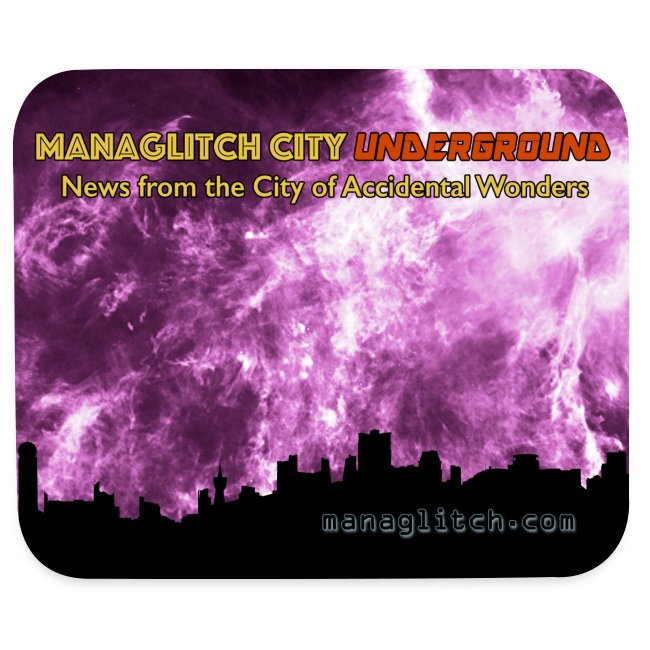 Managlitch City Underground mousepad